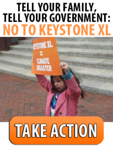 "5 year old Ronia says ""No to Keystone XL!"""
