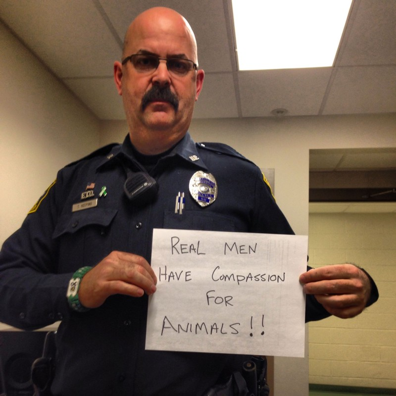 This police officer showed his support for NYCLASS' message via Facebook