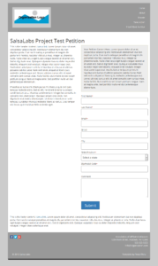 Styled petition page